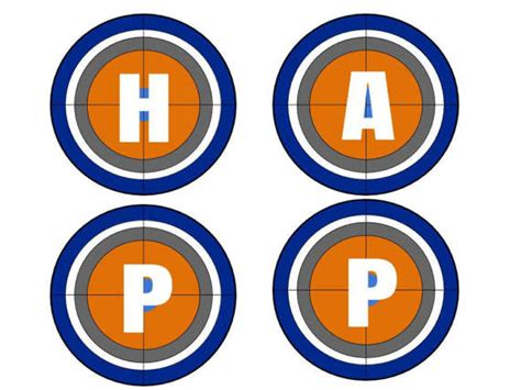 free printable nerf targets nerf happy birthday banner