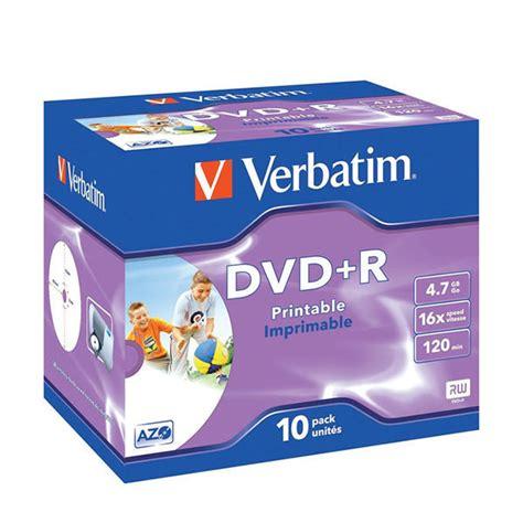 Dijamin Verbatim Dvd R 16x verbatim dvd r 16x 4 7gb inkjet printable spindle pack of