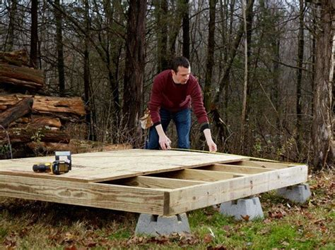 Shed On Deck Blocks by Fernando Popular Mechanics Build A Shed Must See