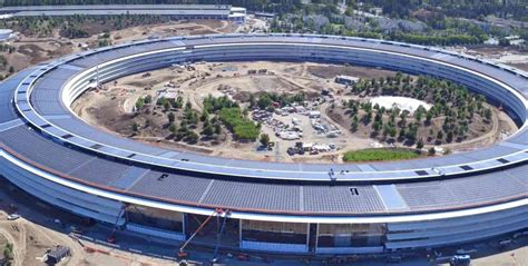 apple park new drone footage shows landscaping other work continue