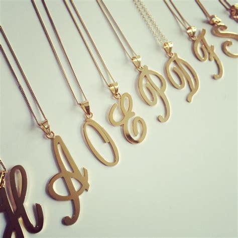 cadenas de plata con iniciales para hombres iniciales de dijes con cadena collar letras oro laminado
