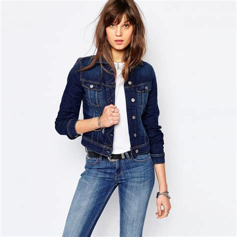 design jacket models plain light blue woman denim jacket shoulder with lace