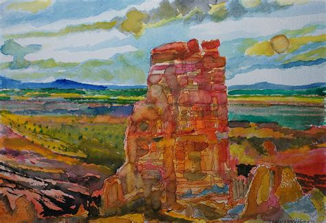 Landscape Paintings Utah Land Of Moab In Utah Painting By Donald Mcgibbon