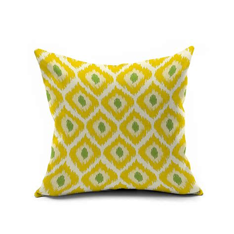 lemon yellow geometric pillow covers 18x18 cushion cover