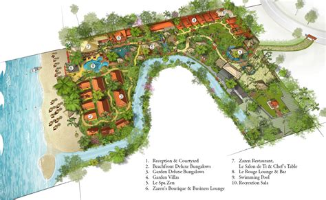 hotel design layout and landscaping garden deluxe samui resort samui zazen boutique resort