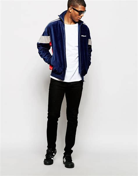Fero Adidas Navy Jaket Sweater lyst adidas originals archive track jacket ab7760 in blue for