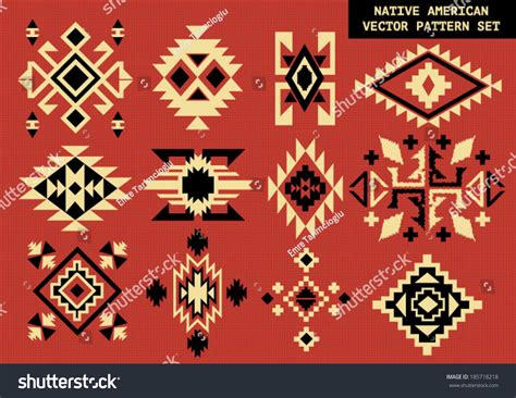 native pattern meaning navajo native american vector pattern on stock vector