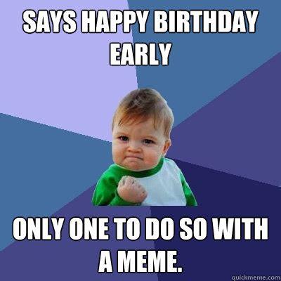 Kids Birthday Meme - success kid memes quickmeme