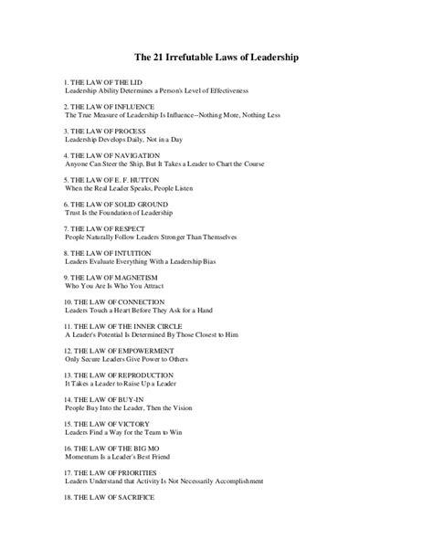listen to the 21 irrefutable laws of leadership audiobook