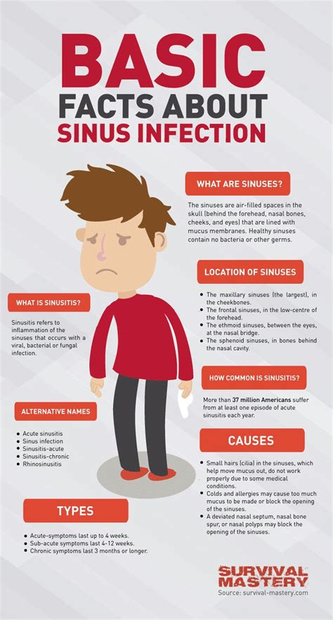 sinus infection mucus color basic facts about sinus infection infographic health