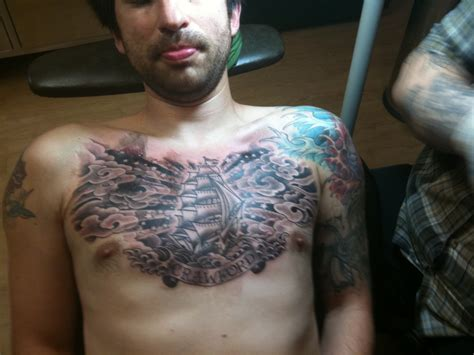 cloud tattoos on chest tattoos ie chest cloud shading