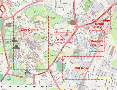 map uk cambridge map of cambridge city centre