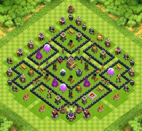 clash of clan 8 town hall war base war trophy base town hall 8 designs with air sweeper