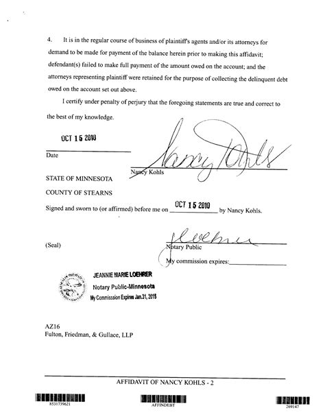 Notarized Divorce Letter Notary Affidavit Sles Car Interior Design