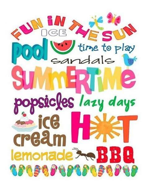 words that describe summer summer stuff