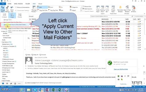 How To Search Unread Emails In Outlook How To Change Color Of Unread Messages In Inbox Outlook 2013