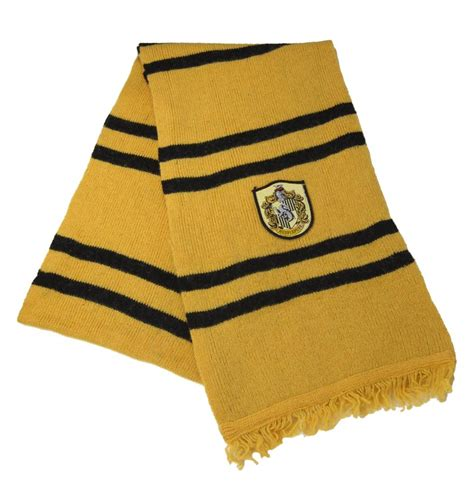 harry potter hufflepuff house wool scarf crest gold newt