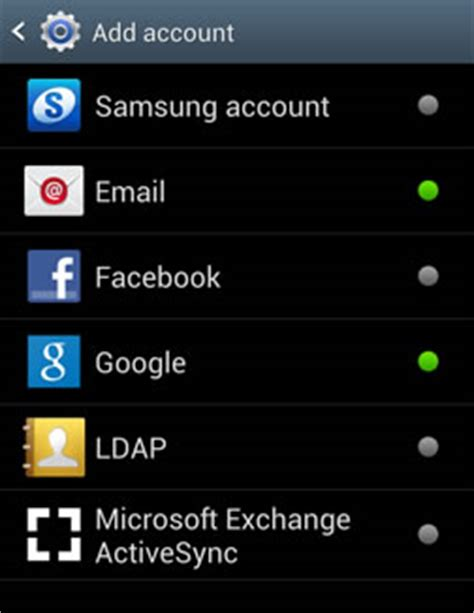 samsung account android how to setup your e mail address on samsung galaxy android