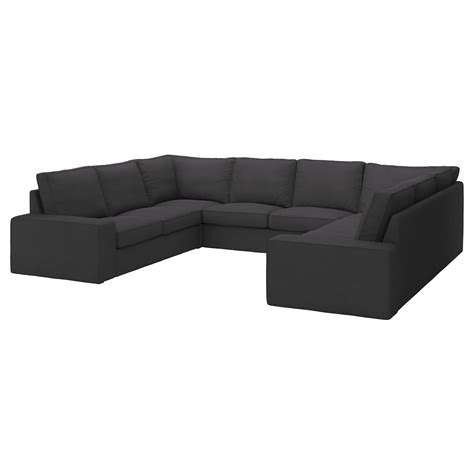 u shaped sofa ikea kivik sofa u shaped 8 seater dansbo dark grey ikea
