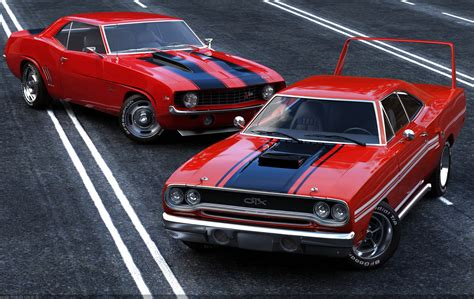 old muscle cars red muscle car don t mess with auto brokers or sloppy