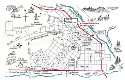 salida colorado maps historic maps census maps and