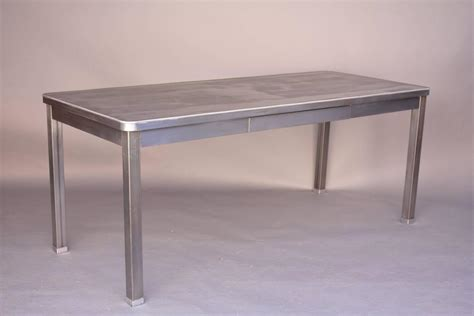 long desk table very long steel table or desk with one drawer for sale at