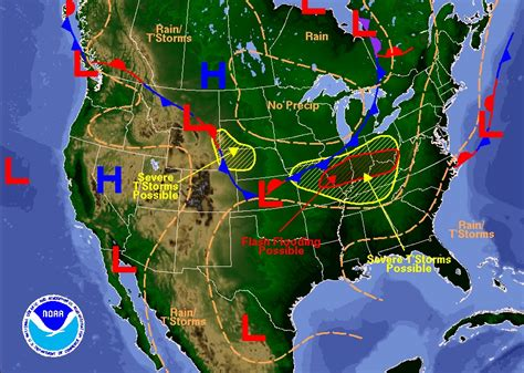 us weather map lows how to use a barometer the of manliness