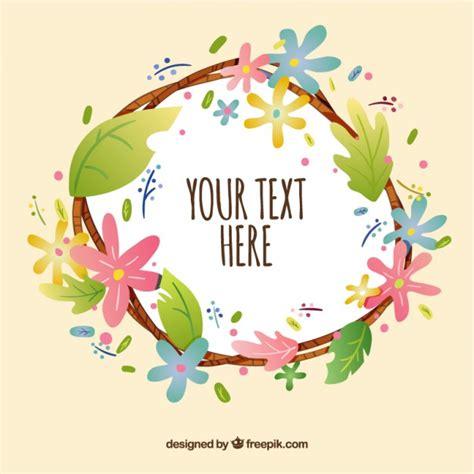 bloemen schrijven hand getrokken bloemen krans met een tekst vector