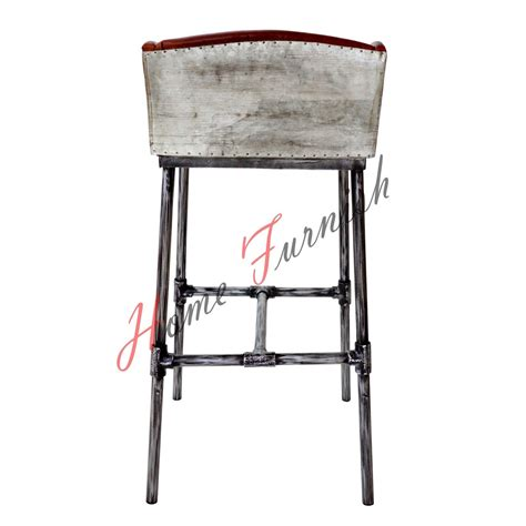 restaurant bar stool iron scaffold leather stool ndustrial bar counter stool