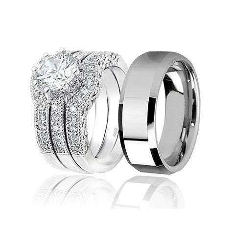 Matching Wedding Rings by Awesome And Matching Wedding Bands Matvuk