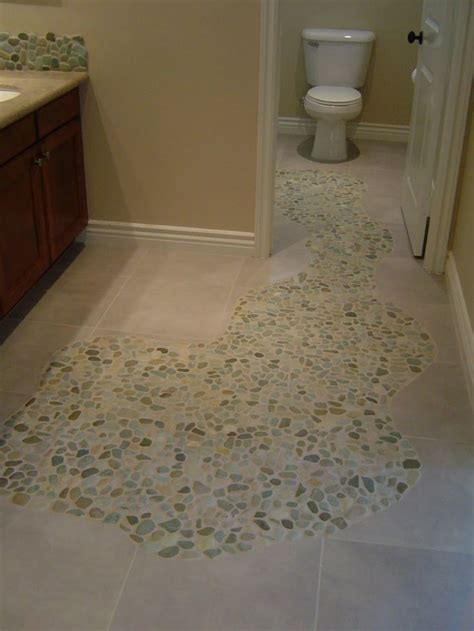 pebble bathroom floor sliced sea green and white pebble tile mosaic floors