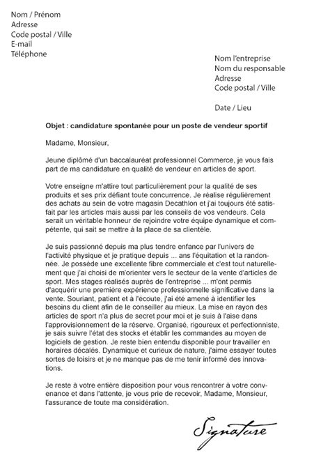 Lettre De Motivation Vendeuse Intersport Lettre De Motivation Decathlon Vendeur Mod 232 Le De Lettre