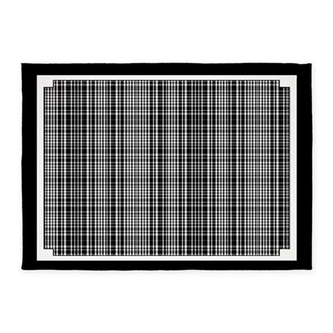 black and white plaid rug black and white plaid 5 x7 area rug by gezipsupport