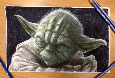 what color is yoda yoda color pencil drawing by atomiccircus on deviantart