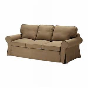 ikea ektorp 3 seat sofa slipcover cover idemo light brown