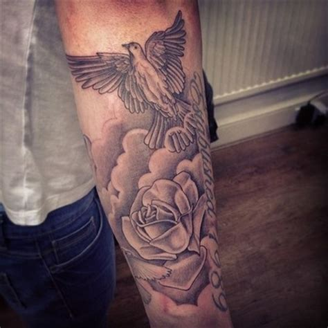 roses and doves tattoo sweet dove and arm tattoomagz