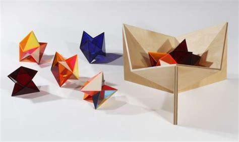 Origami Furniture Design - geometric origami furniture bloom series