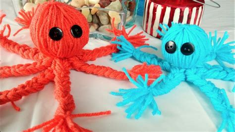 crafts yarn easy yarn crafts for how to make a yarn octopus