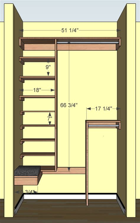Closet Design Measurements by Coat Closet Revisited