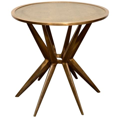 shagreen table top side table interieurs