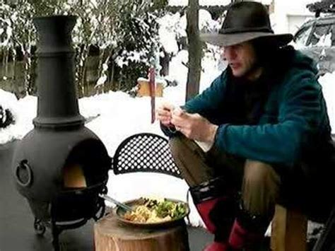 chiminea cooking youtube cooking with cam a fireside breakfast youtube