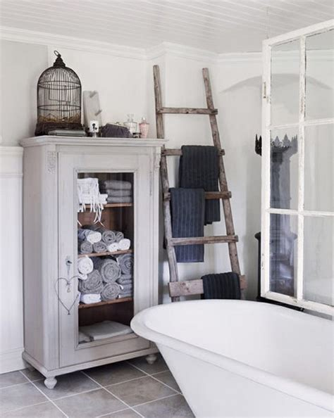 bathroom decorating with old ladder decordots five ideas for decorating with ladders