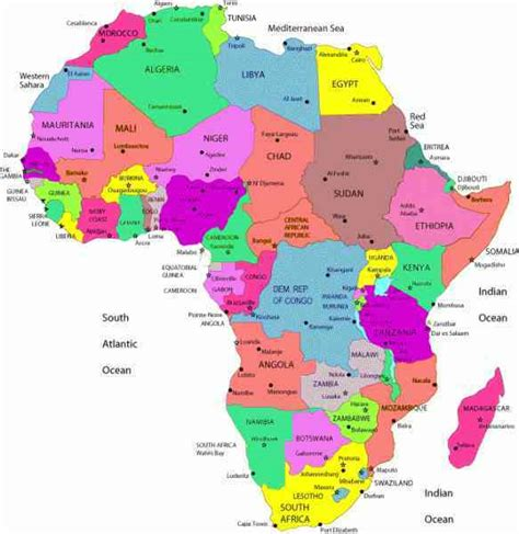 africa map with cities africa map cities 28 images map of south africa with