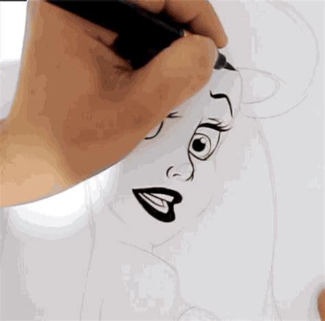 video   artist drawing ariel  surprisingly