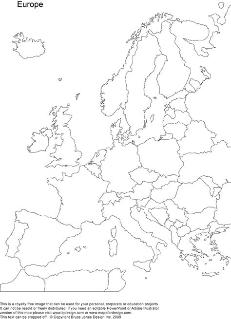 Blank Map by World Regional Europe Printable Blank Maps Royalty Free