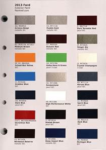 paint chips 2013 ford truck