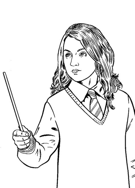 Free Coloring Pages Of Hermione Granger Hermione Coloring Pages