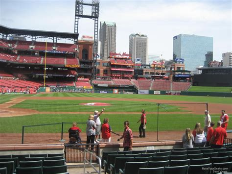 section 157 busch stadium field level infield busch stadium baseball seating