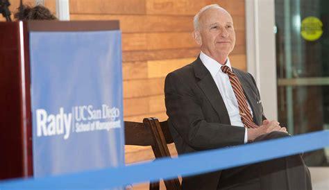 Rady San Diego Mba by Ernest Rady Pledges 1 Million Matching Gift To Fund