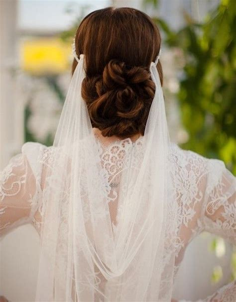 bridal hairstyles and veils wedding hairstyles with veils dipped in lace